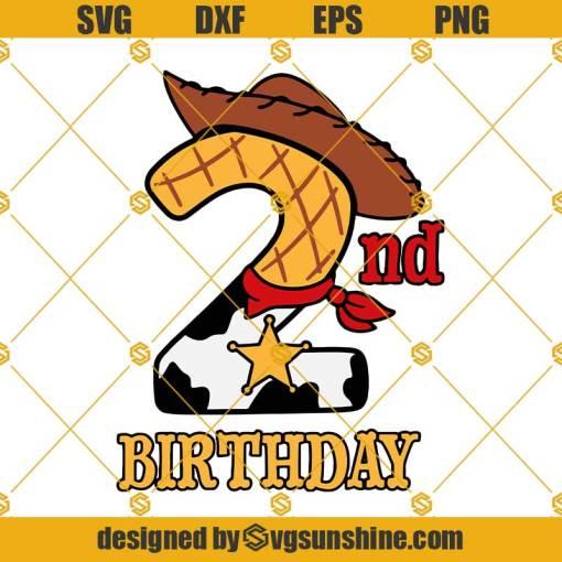 2nd Birthday Woody SVG