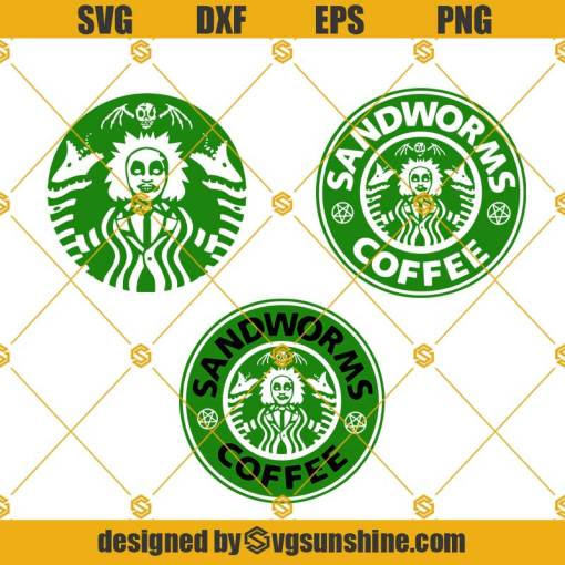 Beetlejuice Starbucks Logo SVG, Beetlejuice SVG, StarbucksSVG, Starbucks Monster SVG, Starbucks Coffee, Halloween SVG, Horror Movie SVG
