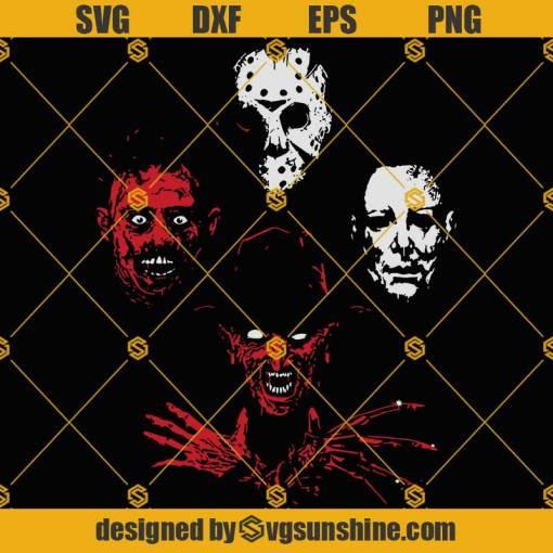 Boogeyman Rhapsody SVG Horror Movie SVG Horror SVG Freddy Krueger SVG Jason SVG Michael Myers SVG Leatherface SVG