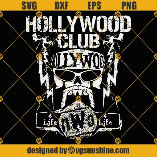 Hulk Hogan Hollywood Club SVG PNG DXF EPS Cut Files For Cricut Silhouette Cameo