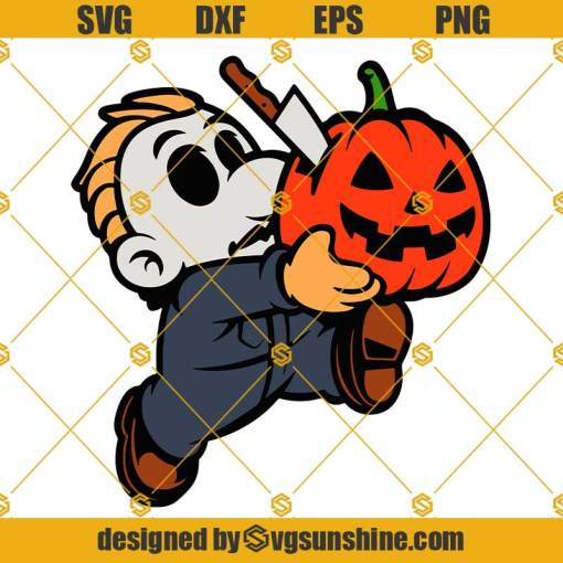 Michael Myers Super Mario Bros SVG, Michael Myers Pumpkin SVG, Horror SVG Halloween SVG