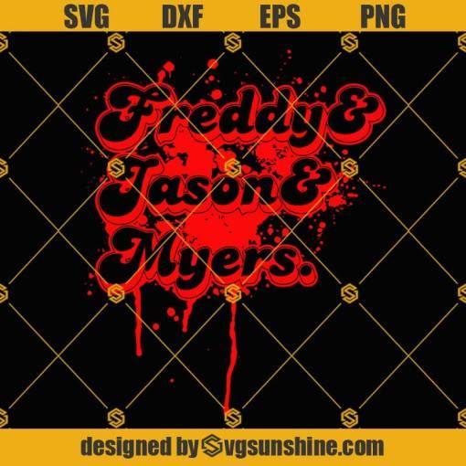 Freddy Jason Myers SVG Retro Horror Scary SVG Halloween SVG Horror Movie SVG