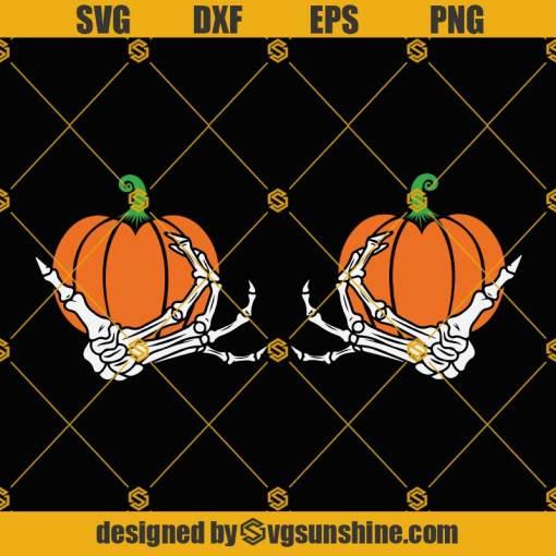 Skeleton Hands Boob SVG, Funny Halloween SVG, Skeleton Hands SVG