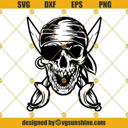 Pirate Skull SVG, Crossbone SVG