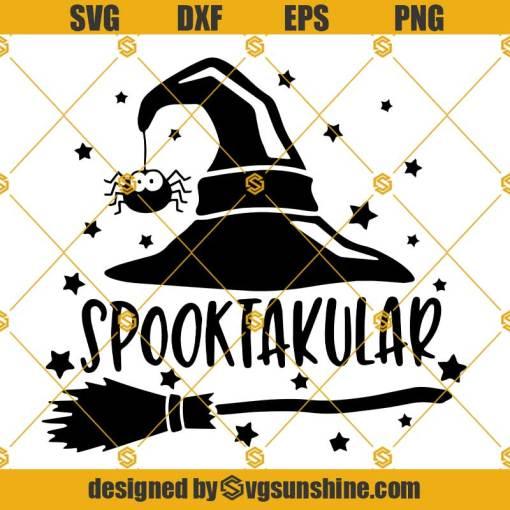 Spooktacular SVG, Witch Broom SVG, Halloween SVG, Halloween Spooktacular SVG, Witch Hat SVG