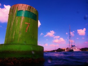 Buoy With Guiding Light in the Background