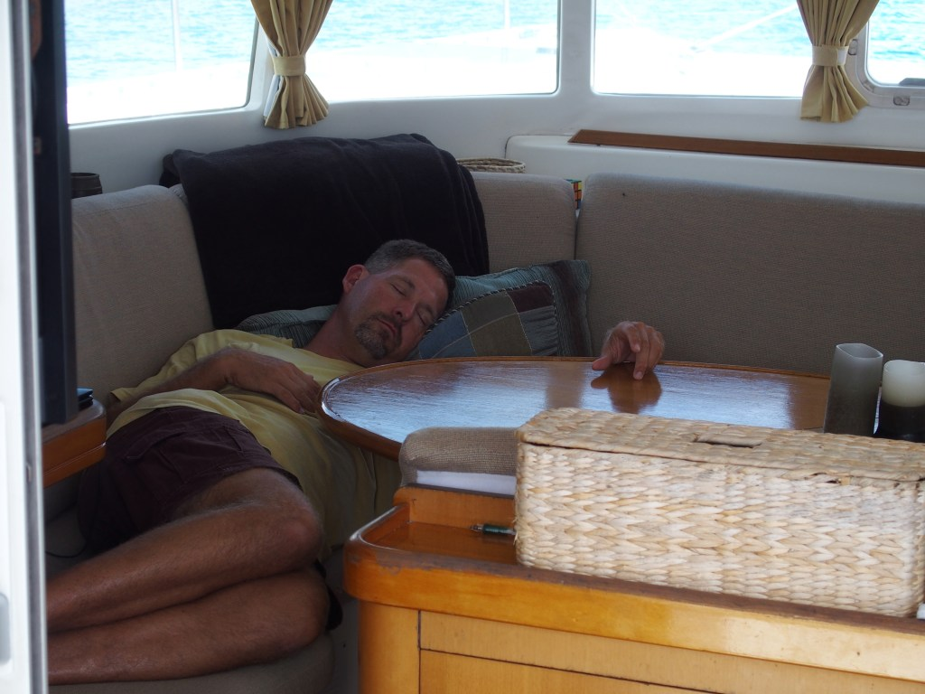 The captain resting