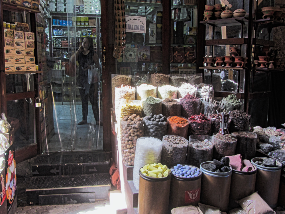 Display at the spice souk