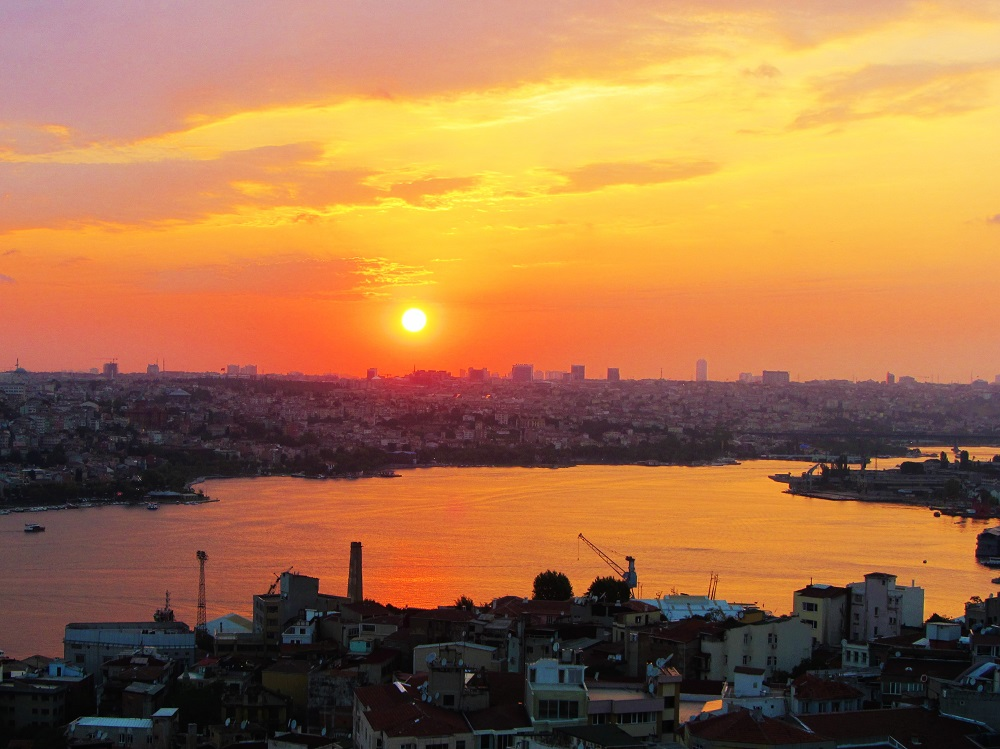 Turkey - Istanbul - Galata Tower - Sunset