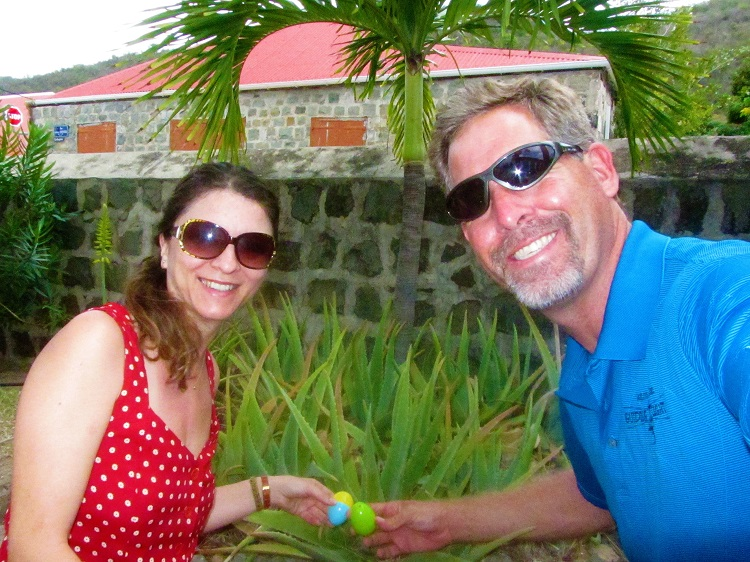 Easter eggs in St Barts