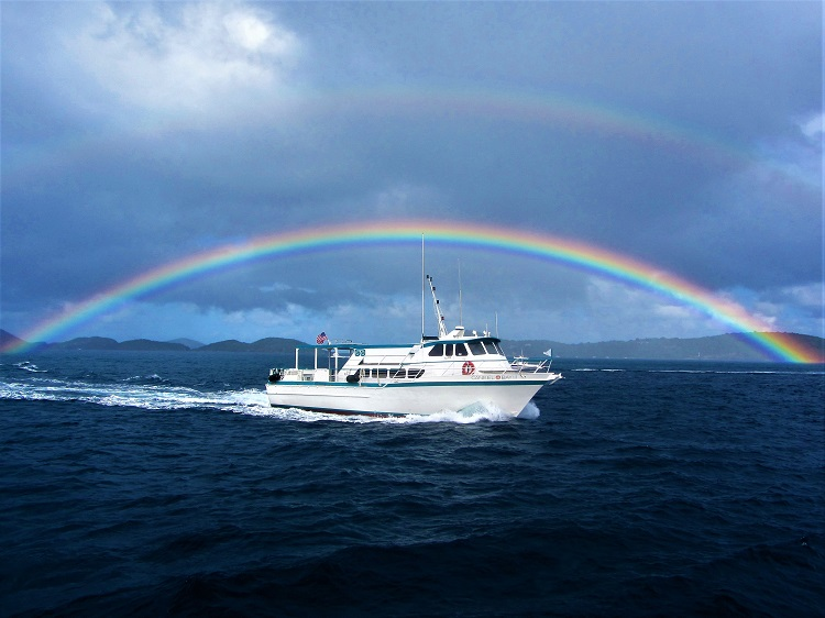 Rainbow With Caneel Bay Ferry