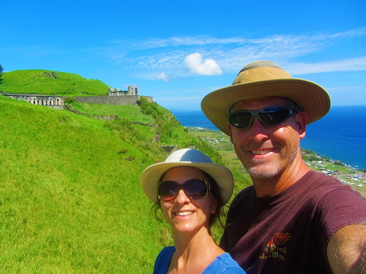 Us on Brimstone Hill in St Kitts