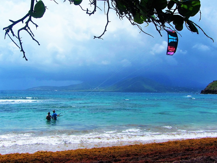 Kite Surfing on St Kitts