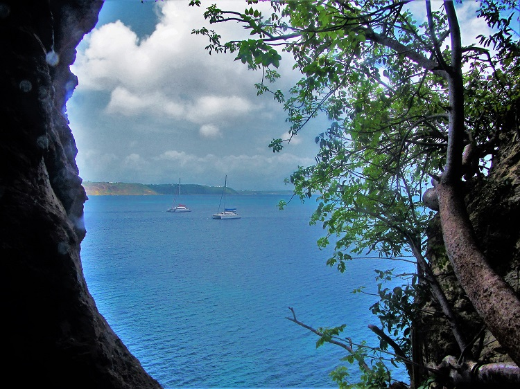 View from a cave on Anguilla