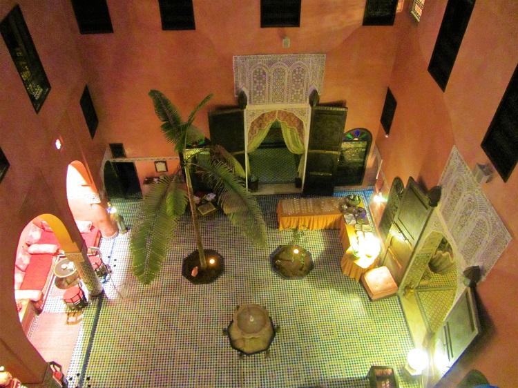 Inside a Moroccan riad