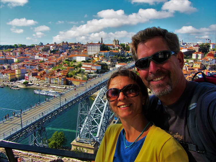 In Porto with the Dom Luis Bridge