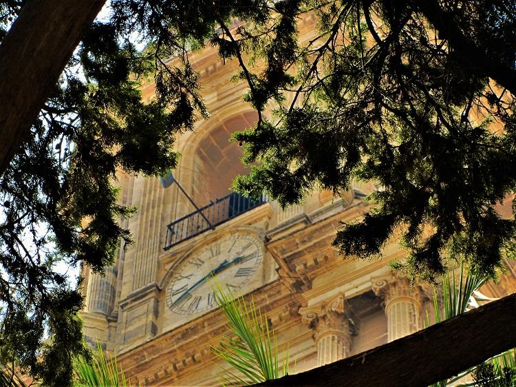 Clock tower in Malaga