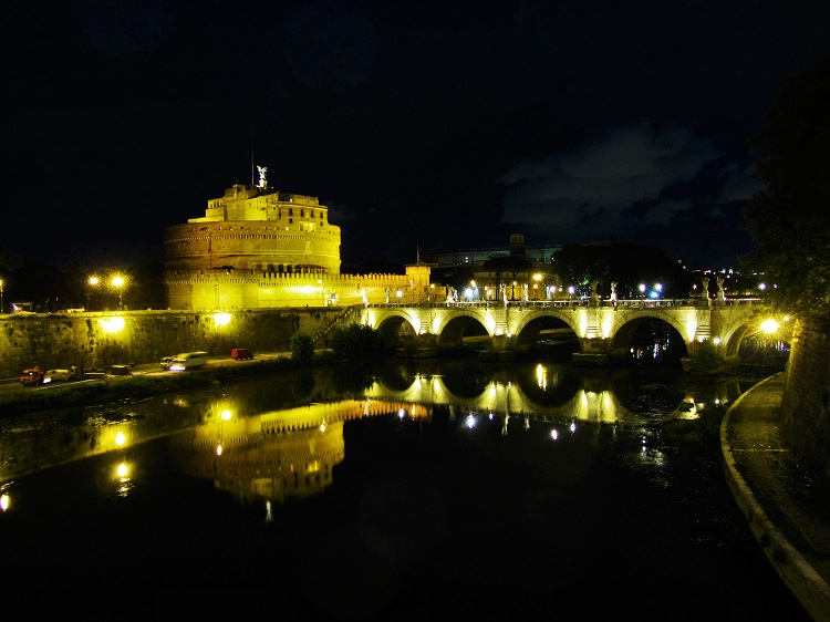 Italy - Rome - Castel St. Angelo - Across River