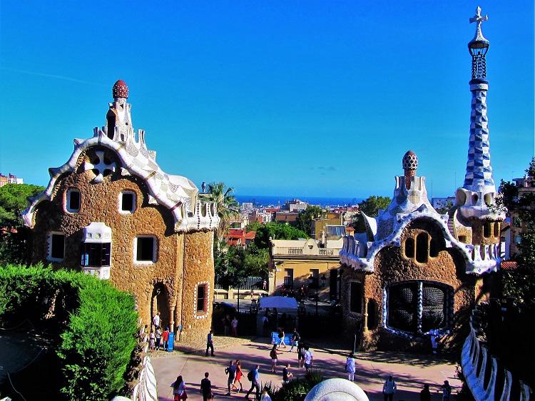 Spain - Barcelona - Gaudi - Parc Güell - Entrance