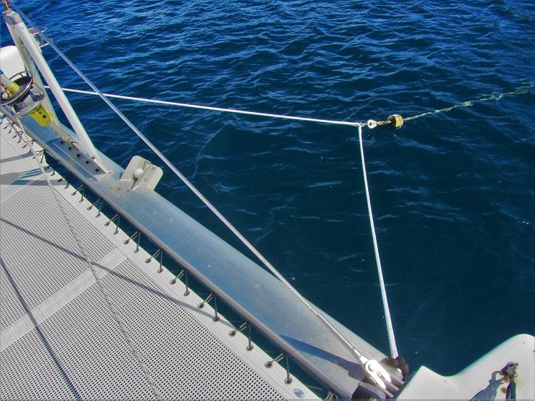 Bridle on a catamaran