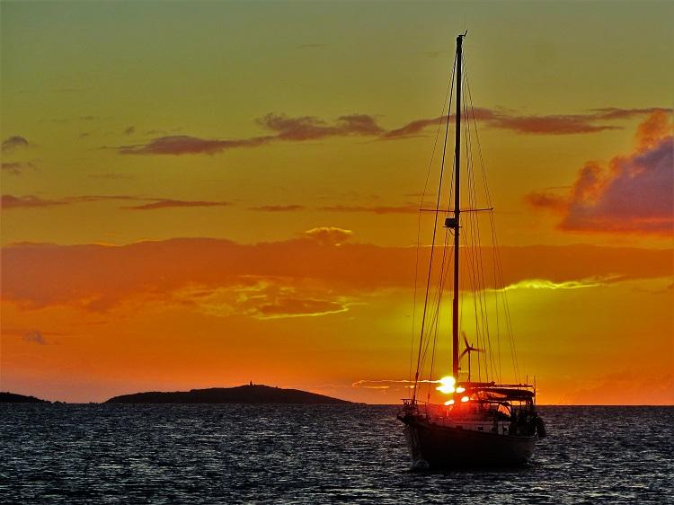 POTD - Sunset over Buck Island