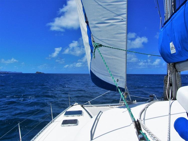 Sailing Under Jib
