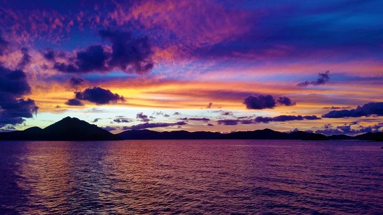 Sunset With Purple & Orange