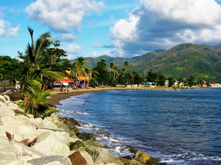 Portsmouth beach in Dominica