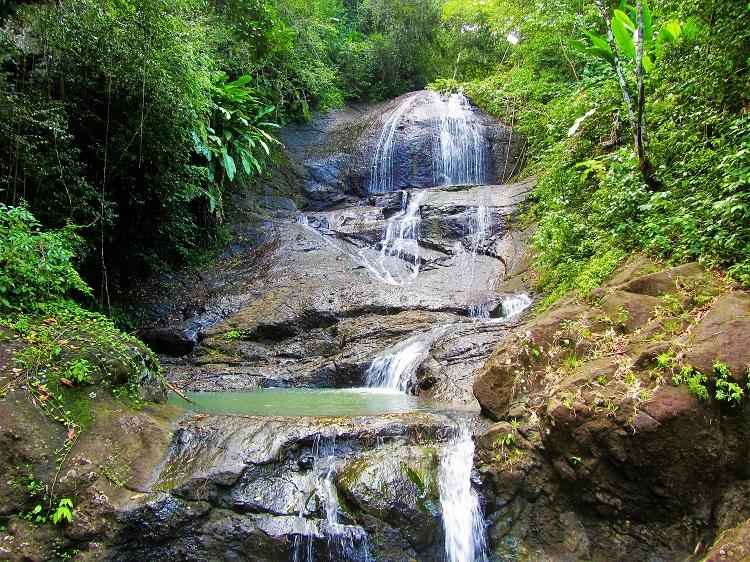 Waterfall at Anse La Raye