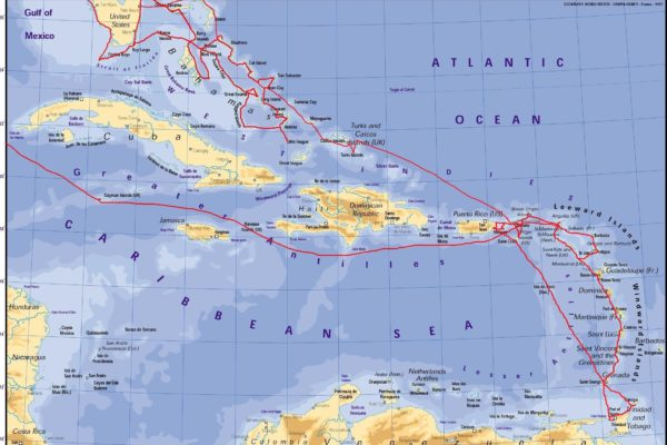 Map - x My Route- Caribbean