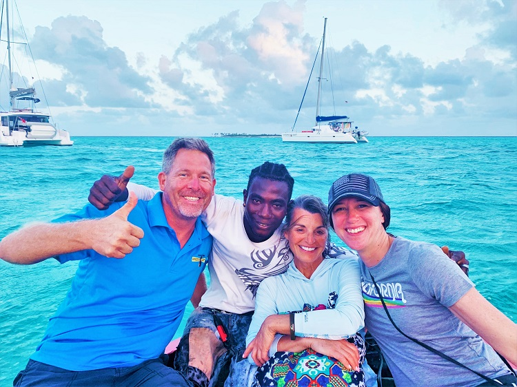 In the Tobago Cays with Cameron