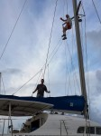 Dad Up The Mast