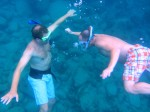 Shane and Aaron snorkeling
