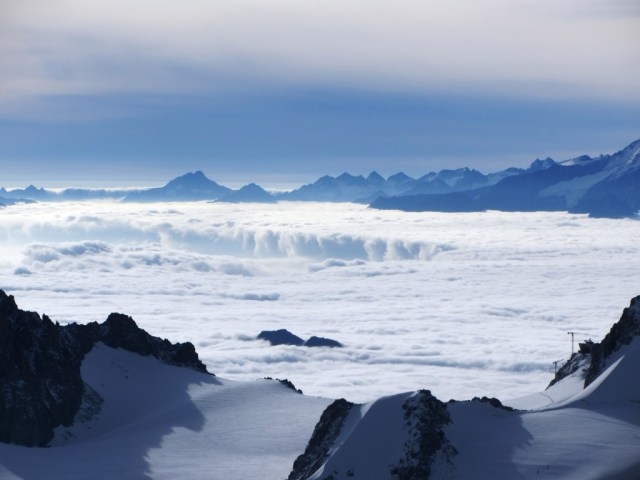 Across the glacier