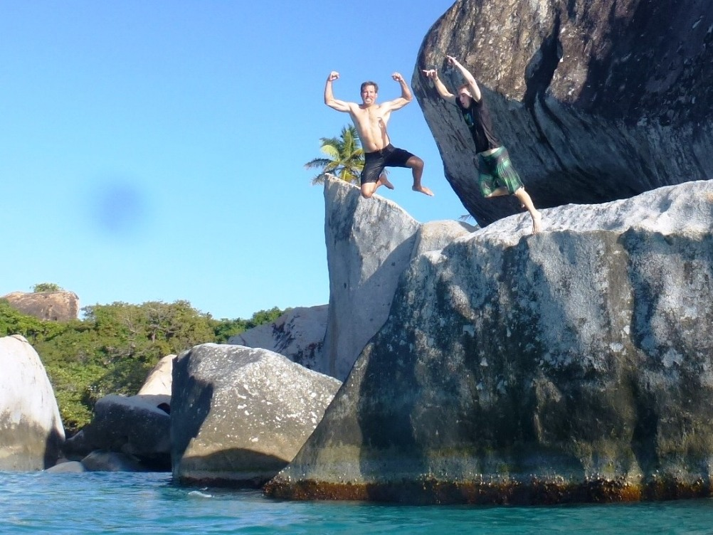 Jumping At The Baths