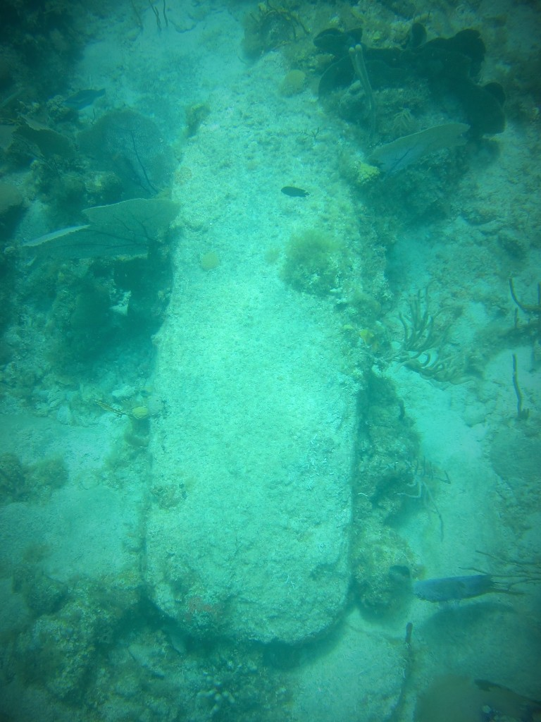 Underwater coffin?