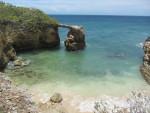 Natural bridge on the coast