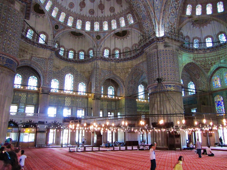 Turkey - Istanbul - Blue Mosque - Interior
