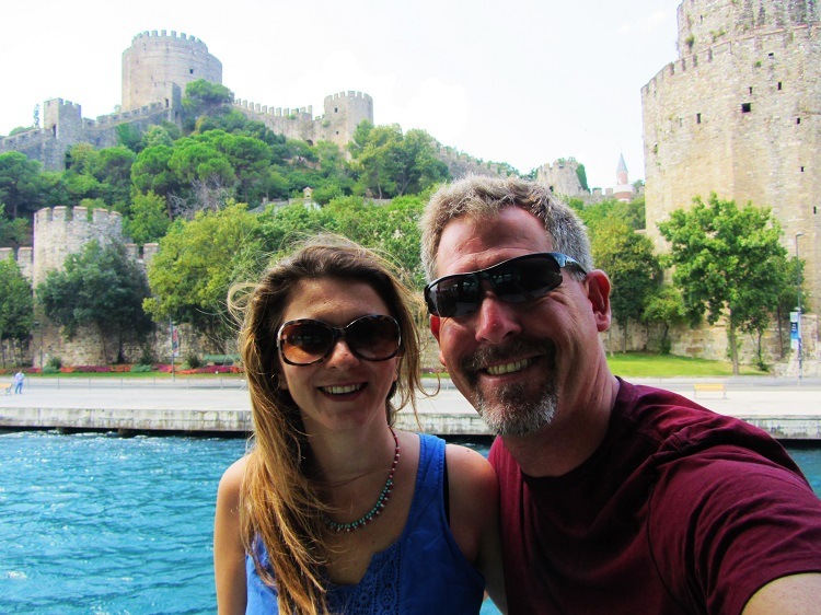 Turkey - Istanbul - Boat Tour - Melek & I In Fron Of Castle