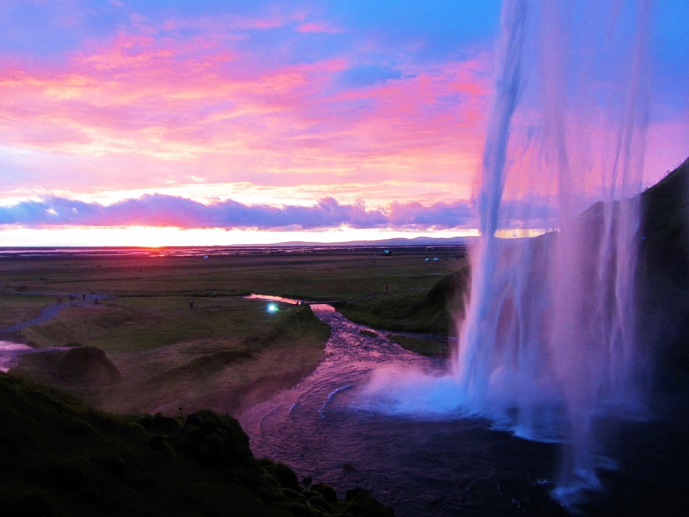 Travel - Iceland - Seljalandsfoss - Sunset