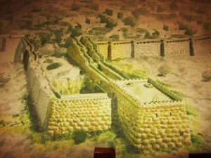 Israel - Jerusalem - City of David - Picture of Walls Around Spring