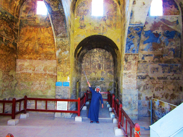 Quseir Amra frescos With my guide