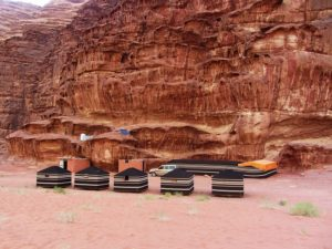 Our camp in Wadi Rum