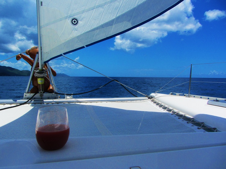 Wine much when you sail?