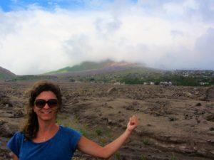 Montserrat - Melek - Pointing to Volcano