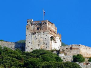 The Moorish castle on Gibraltar