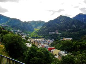 Looking down the Andorra Valley