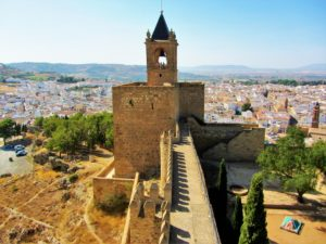 Moorish castle bell tower in Antequera