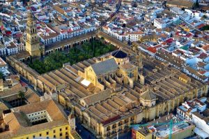 Arial view of Mezquita in Cordoba