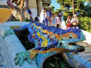 Spain - Barcelona - Gaudi - Parc Güell - Lizard